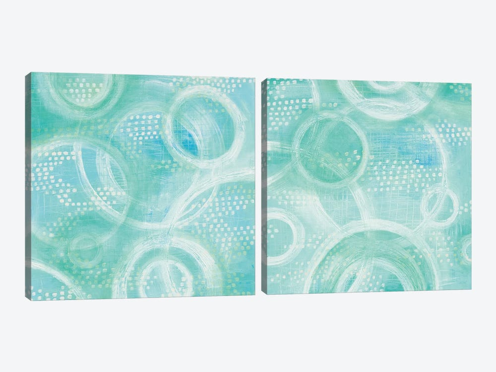 Going In Circles Diptych by Melissa Averinos 2-piece Canvas Art