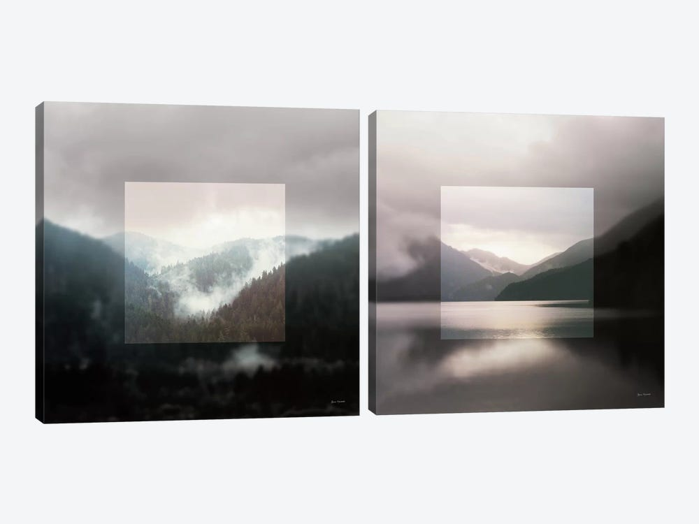 Framed Landscape Diptych by Laura Marshall 2-piece Canvas Art