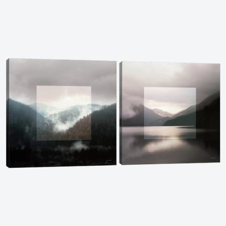 Framed Landscape Diptych Canvas Print Set #WAC2HSET090} by Laura Marshall Canvas Print