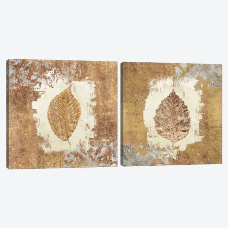 Gilded Leaf I Diptych Canvas Print Set #WAC2HSET091} by Avery Tillmon Art Print