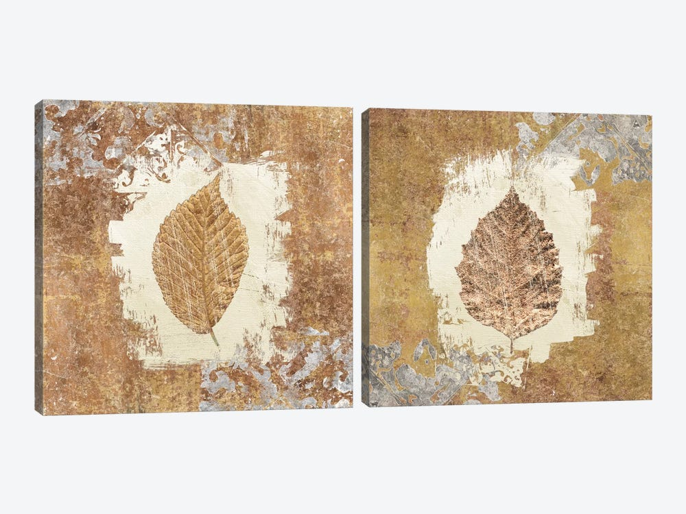 Gilded Leaf I Diptych by Avery Tillmon 2-piece Art Print
