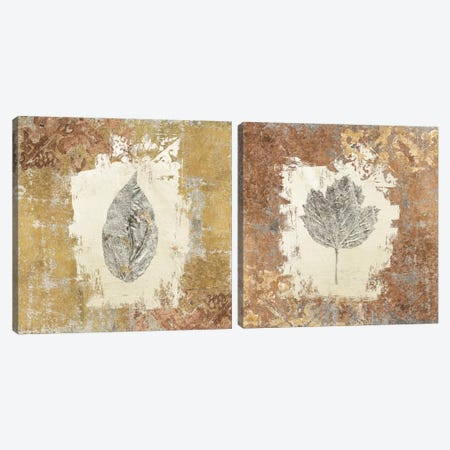 Gilded Leaf II Diptych Canvas Print Set #WAC2HSET092} by Avery Tillmon Canvas Print