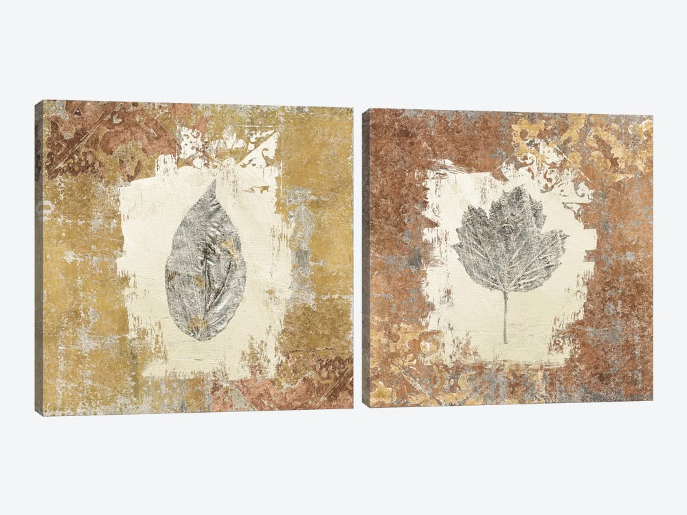 Gilded Leaf II Diptych by Avery Tillmon 2-piece Canvas Wall Art