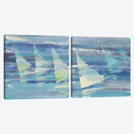 Summer Sail Diptych Canvas Print Set #WAC2HSET094} by Albena Hristova Canvas Wall Art