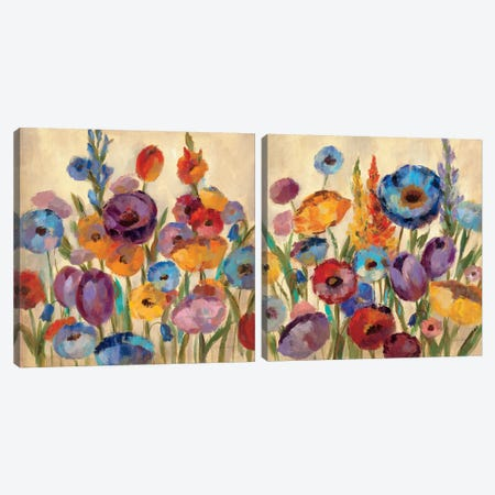 Garden Hues Diptych Canvas Print Set #WAC2HSET097} by Silvia Vassileva Canvas Wall Art