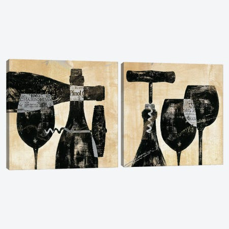 Wine Selection Diptych Canvas Print Set #WAC2HSET100} by Daphne Brissonnet Canvas Print