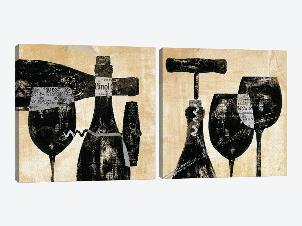 Wine Selection Diptych by Daphne Brissonnet 2-piece Canvas Art