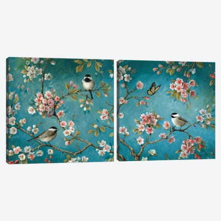 Blossom Diptych Canvas Print Set #WAC2HSET101} by Lisa Audit Canvas Print