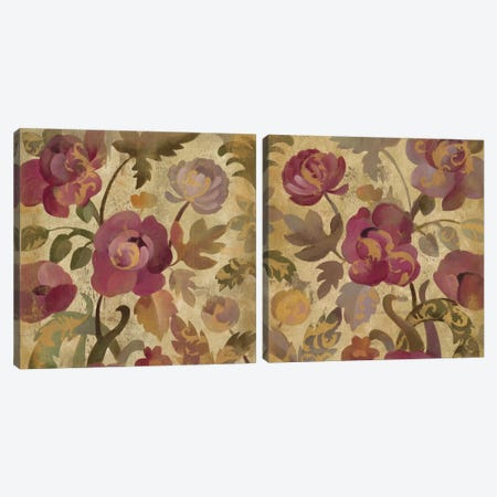 Shimmering Garden Diptych Canvas Print Set #WAC2HSET113} by Silvia Vassileva Canvas Artwork