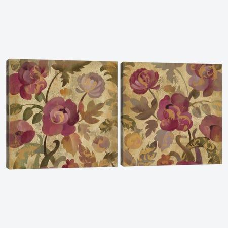 Shimmering Garden Diptych Canvas Print Set #WAC2HSET113} by Silvia Vassileva Canvas Artwork