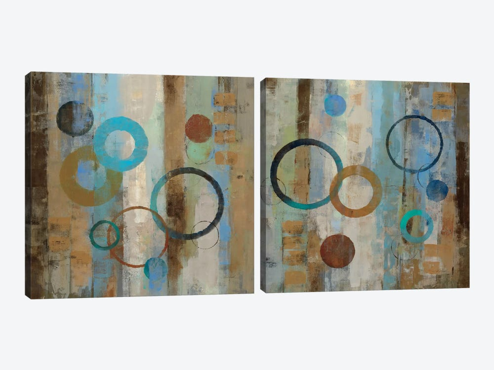 Bubble Graffiti Diptych 2-piece Canvas Art Print