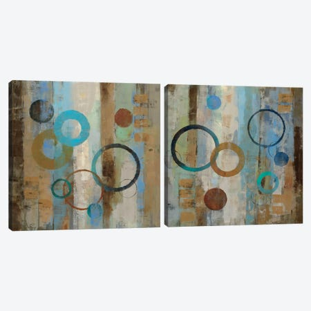 Bubble Graffiti Diptych Canvas Print Set #WAC2HSET114} by Silvia Vassileva Canvas Print