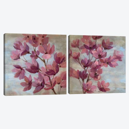 April Blooms Diptych Canvas Print Set #WAC2HSET116} by Silvia Vassileva Canvas Print