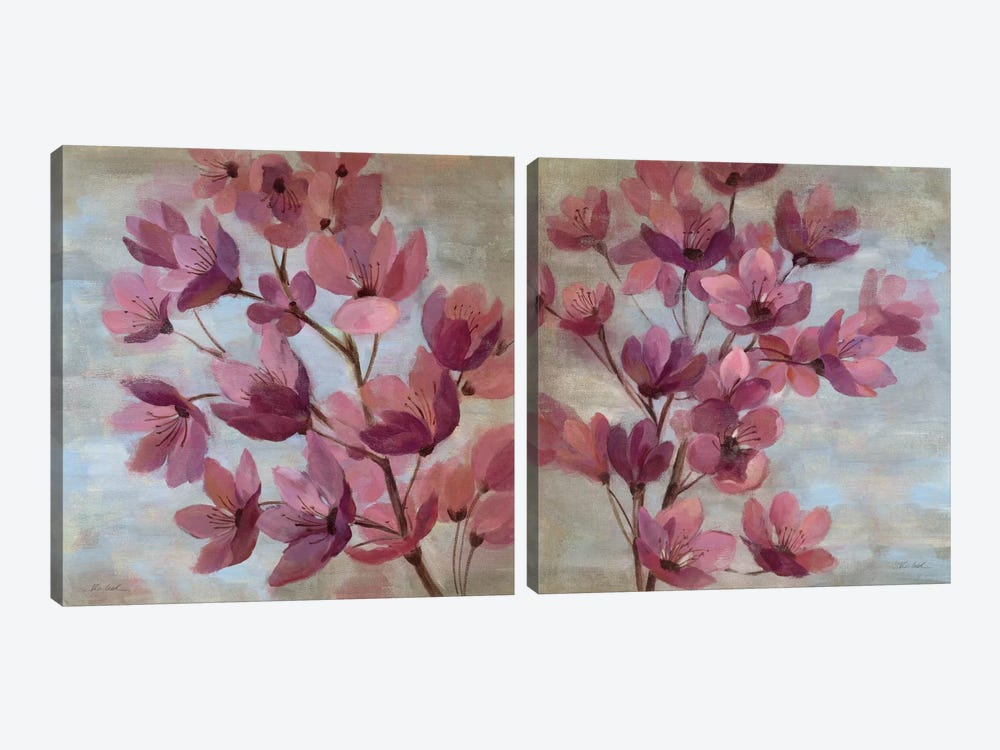 April Blooms Diptych by Silvia Vassileva 2-piece Art Print
