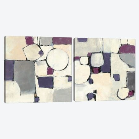 White Out Diptych Canvas Print Set #WAC2HSET117} by Mike Schick Art Print
