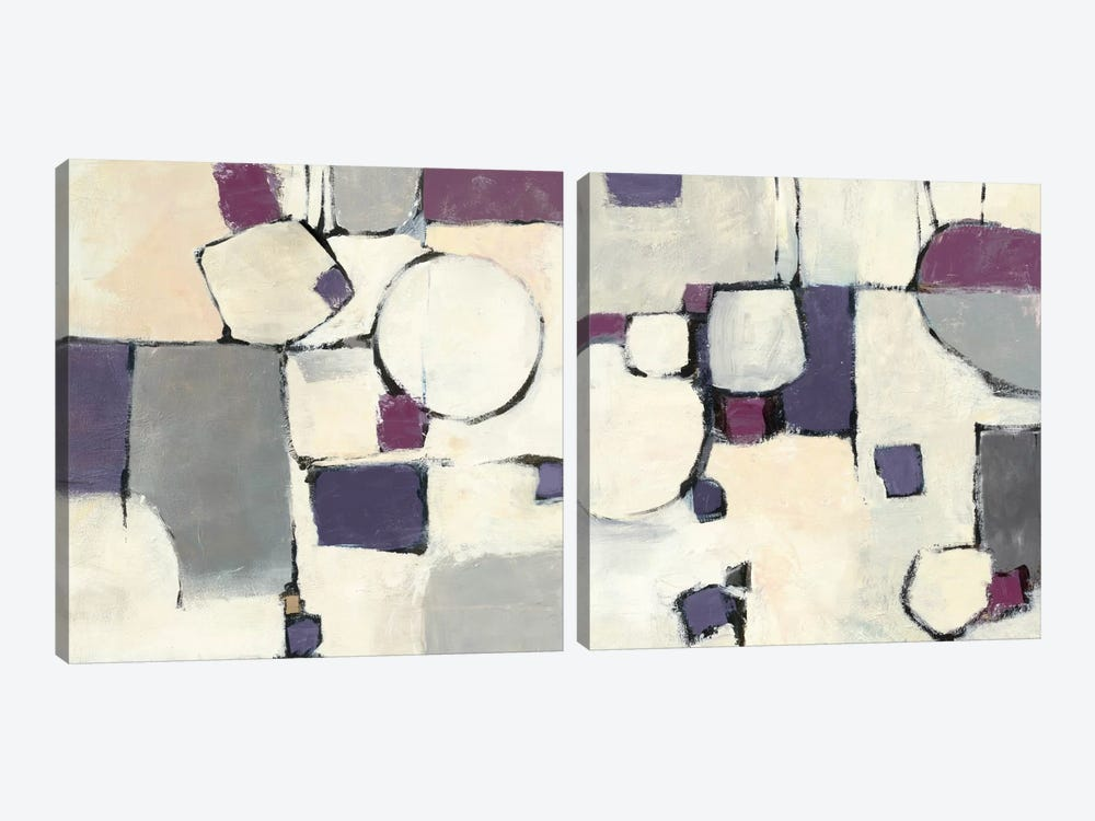 White Out Diptych by Mike Schick 2-piece Canvas Art