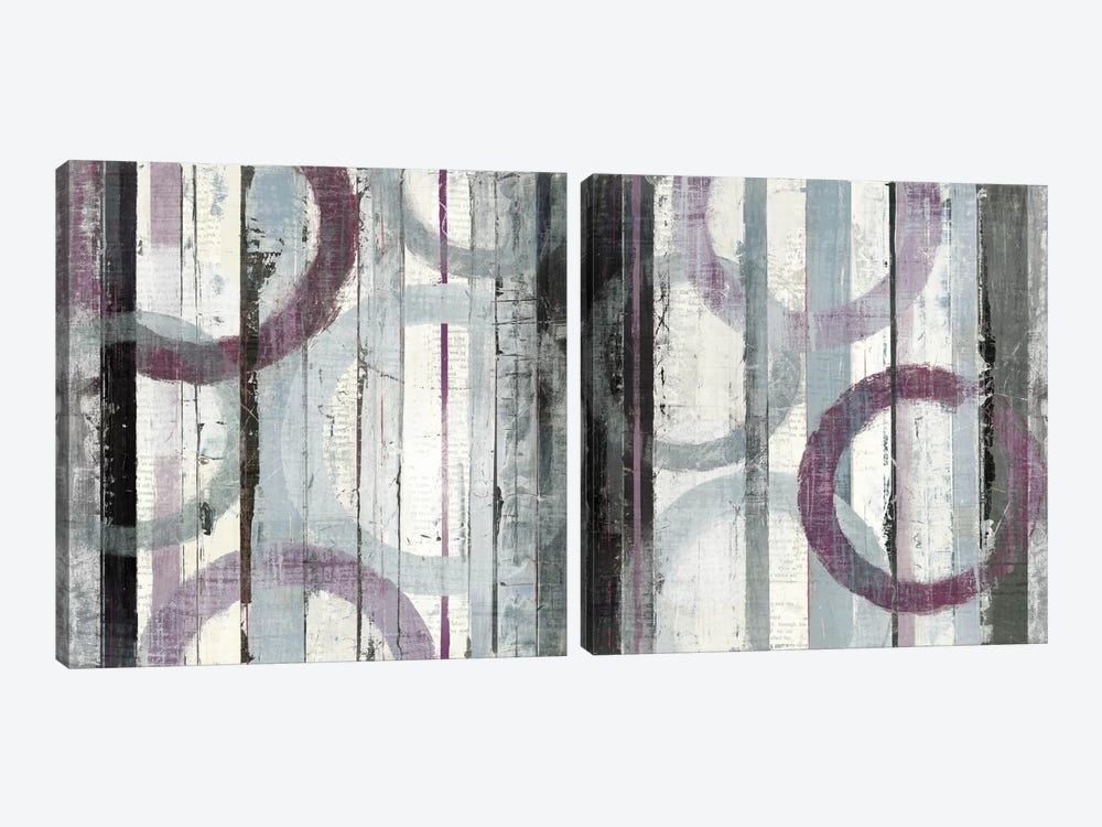 Plum Zephyr Diptych by Mike Schick 2-piece Canvas Art