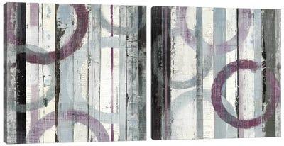 Plum Zephyr Diptych Canvas Art Print