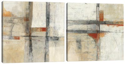 Aerial View Diptych Canvas Art Print