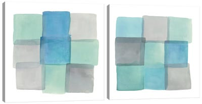 Overlap Diptych Canvas Art Print