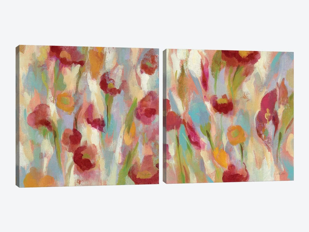 Breezy Floral Diptych by Silvia Vassileva 2-piece Canvas Wall Art