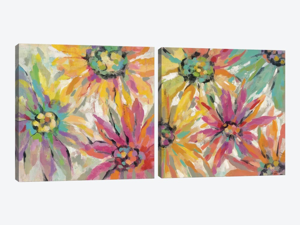 Abstracted Petals Diptych by Silvia Vassileva 2-piece Art Print