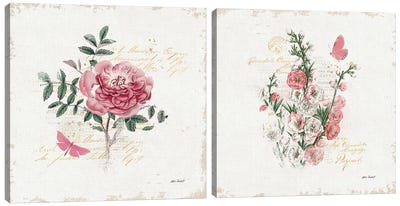 French Romance Diptych I Canvas Art Print