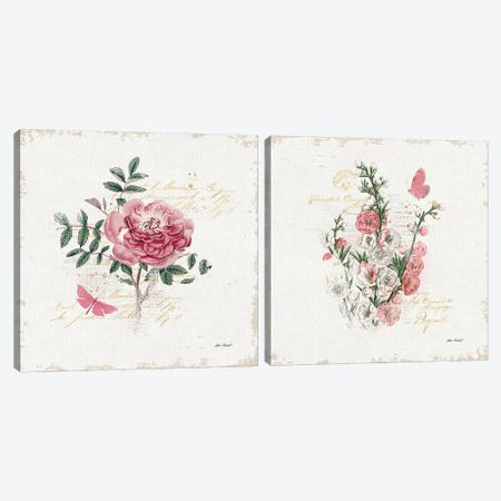 French Romance Diptych I Canvas Print Set #WAC2HSET127} by Katie Pertiet Canvas Wall Art
