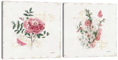 French Romance Diptych I Canvas Art Print