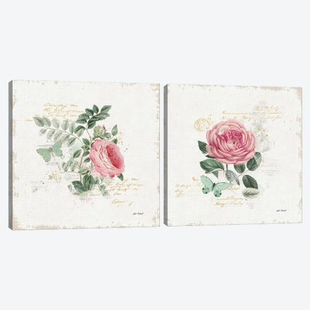 French Romance Diptych II Canvas Print Set #WAC2HSET128} by Katie Pertiet Canvas Art Print