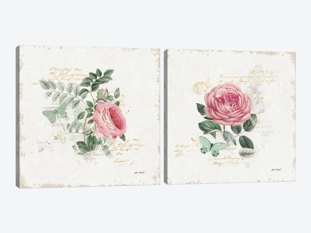 French Romance Diptych II by Katie Pertiet 2-piece Canvas Artwork