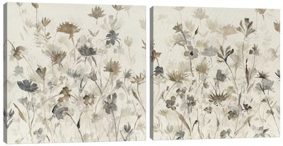 Garden Shadows Diptych Canvas Art Print
