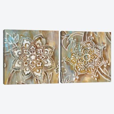Henna Diptych Canvas Print Set #WAC2HSET135} by Danhui Nai Art Print