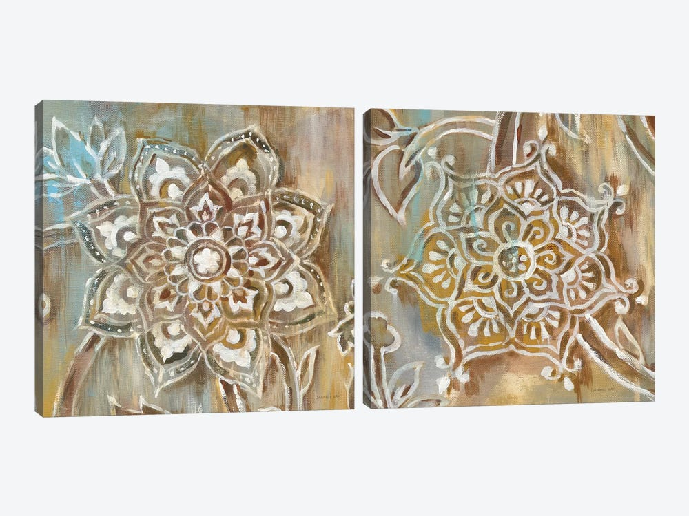 Henna Diptych by Danhui Nai 2-piece Canvas Art