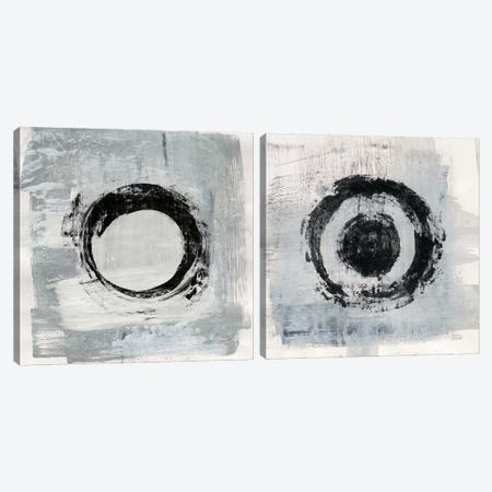 Zen Circle Diptych Canvas Print Set #WAC2HSET139} by Melissa Averinos Canvas Art