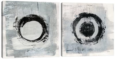 Zen Circle Diptych Canvas Art Print