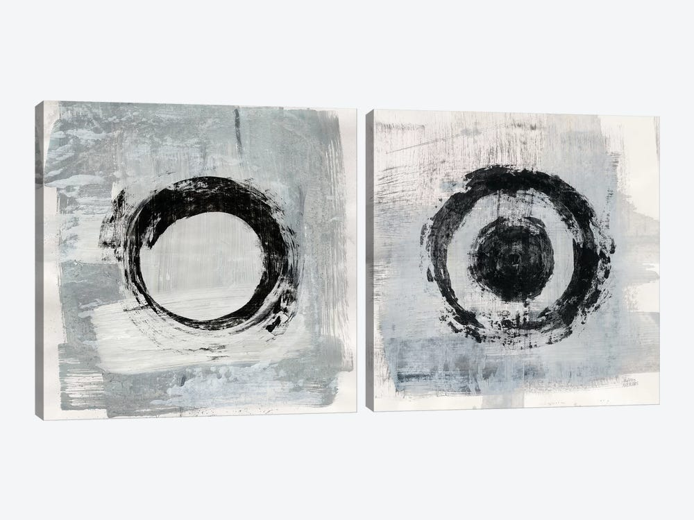 Zen Circle Diptych by Melissa Averinos 2-piece Canvas Wall Art