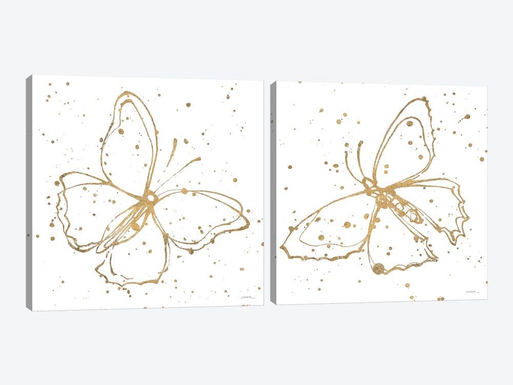 Golden Wings Diptych by Shirley Novak 2-piece Canvas Artwork