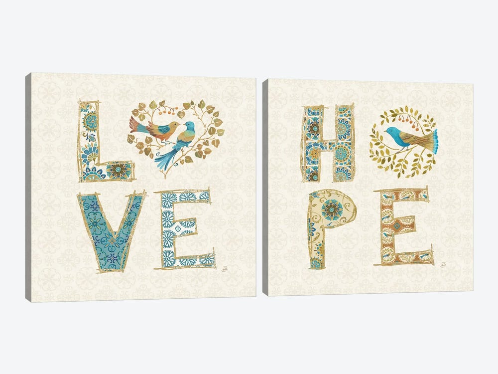 Love Tales Diptych by Daphne Brissonnet 2-piece Canvas Artwork
