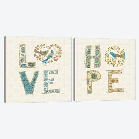 Love Tales Diptych Canvas Print Set #WAC2HSET142} by Daphne Brissonnet Art Print