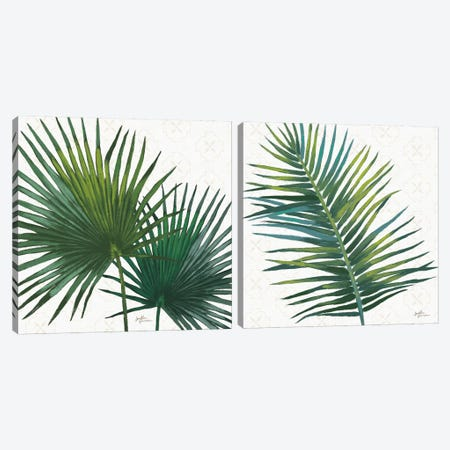 Welcome To Paradise Diptych Canvas Print Set #WAC2HSET143} by Janelle Penner Canvas Art Print