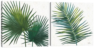 Welcome To Paradise Diptych Canvas Art Print