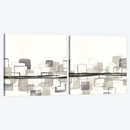 Placid Boxes Diptych Canvas Print Set #WAC2HSET145} by Anne Tavoletti Canvas Artwork