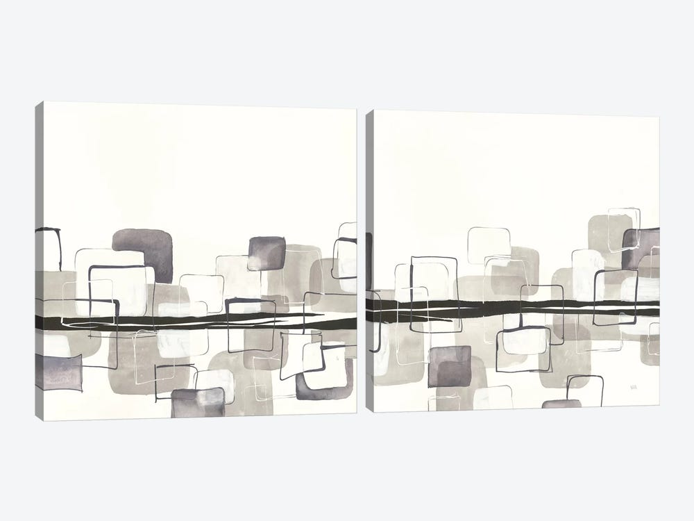 Placid Boxes Diptych by Anne Tavoletti 2-piece Canvas Art Print
