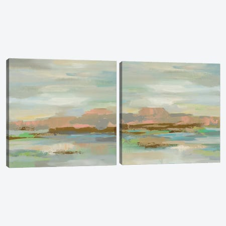 Spring Desert Diptych Canvas Print Set #WAC2HSET148} by Silvia Vassileva Canvas Print