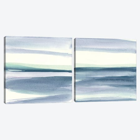 Mint Dawn Diptych II Canvas Print Set #WAC2HSET150} by Chris Paschke Canvas Wall Art