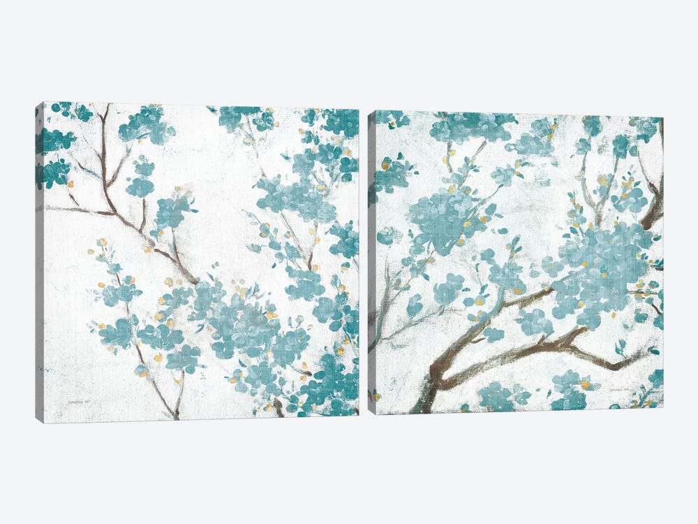 Cherry Blossoms Diptych by Danhui Nai 2-piece Canvas Print