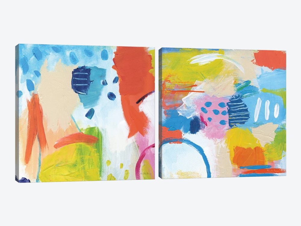 Cheerful Diptych by Farida Zaman 2-piece Canvas Artwork
