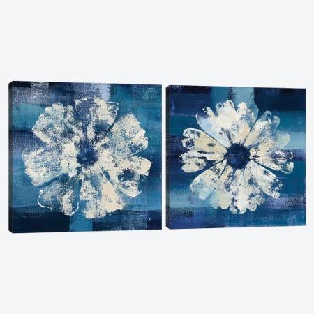 Ocean Bloom Diptych Canvas Print Set #WAC2HSET162} by Studio Mousseau Canvas Art Print