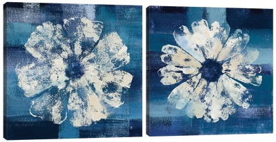 Ocean Bloom Diptych Canvas Art Print